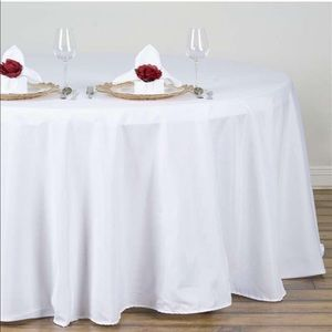 """Other - Brand new 132"""" White Tablecloth!"""